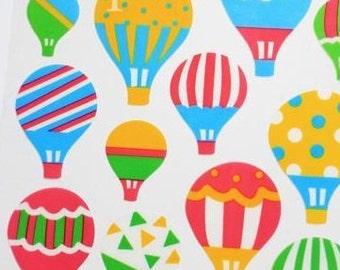 Gorgeous Japanese Hot Air Ballon Stickers 1 Sheet