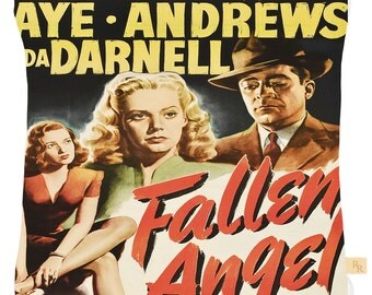 Fallen Angel film noir cushion cover