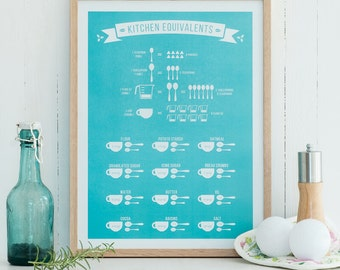 Kitchen Conversions Print - limited edition - 12x16 30x40 A3