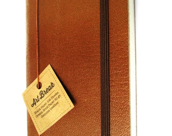 Natural Leather Journal Blank Notebook