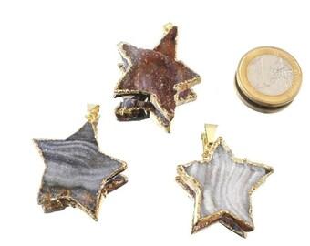 Snake eight, Star earrings, silver