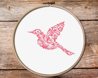 little bird cross stitch pattern, cross stitch birds, Hummingbird Cross Stitch Pattern,  bird cross stitch pattern, little bird