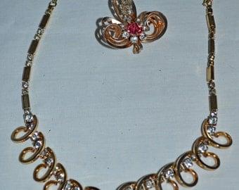 Vintage Necklace & Brooch