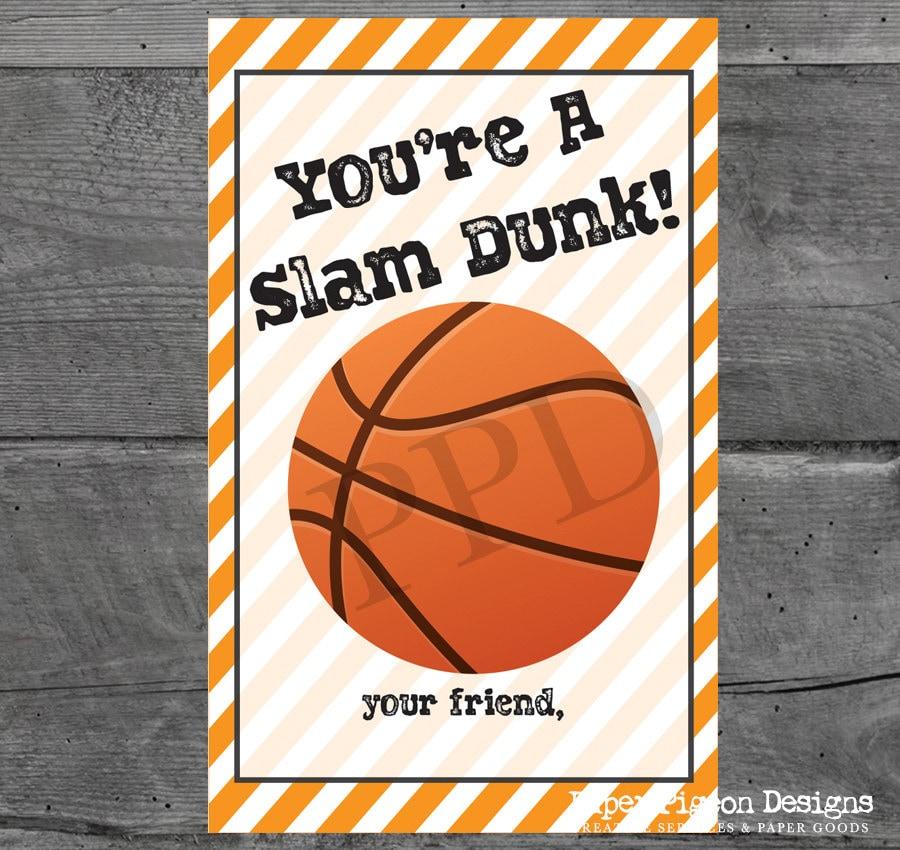 Sports DIY Valentine Cards DIY Valentine Card Printable Sports – Basketball Valentine Cards