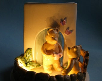 Bedside Lamp with bears