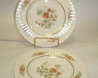 "Lot of 2 Lenox Temple Blossom 10-7/8"" Dinner Plates"