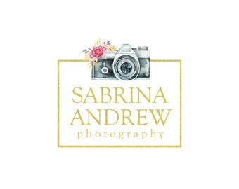 camera logo gold foil logo premade logo custom logo design elegant logo watermark photography logo business logo graphic design