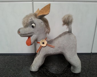 Souvenir Toy 1950s 1960s Donkey Figure Hemo Old Felt Germany