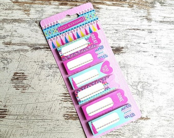 "Sticky bookmarks set ""tassels"""