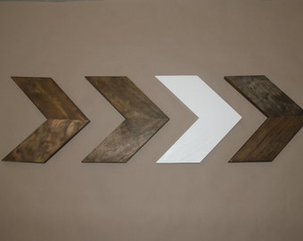 Four Wood Chevron Arrows. Wood Arrow Wall Art. Chevron Home Decor. Modern Wood Chevron Arrows. Rustic Wood Chevron Arrows