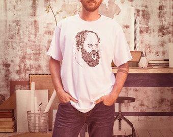 Men's Tee Socrates Quote - To find yourself, think for yourself by Good Dae