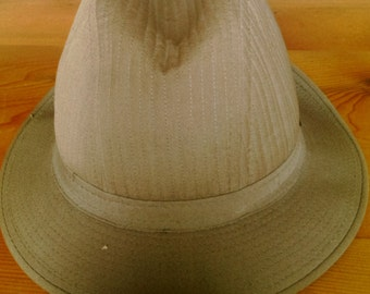 Vintage Tan Or Khaki Men's London Fog Fedora Hat Size Seven