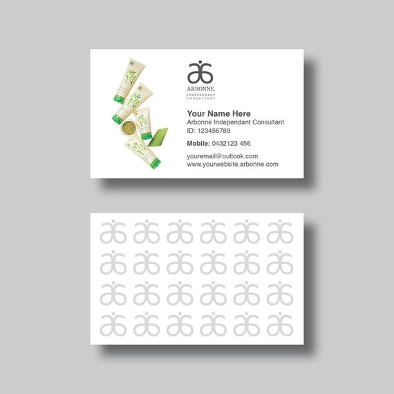 Arbonne Business Card ABC Digital Design by BellGraphicDesigns