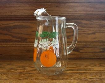 Glass Orange Juice Pitcher