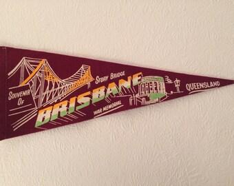 Vintage Brisbane, Queensland, Australia Pennant Flag