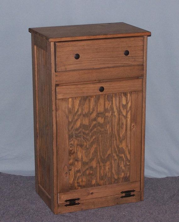 wooden tilt out trash bin with drawer. Black Bedroom Furniture Sets. Home Design Ideas