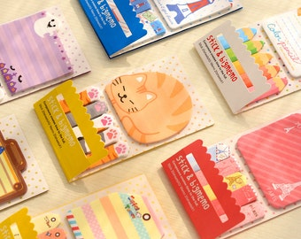Cute Animal Stick Markers Sticky notes Post-it Bookmarks Filofax kikki.k Erin Condren scrapbook