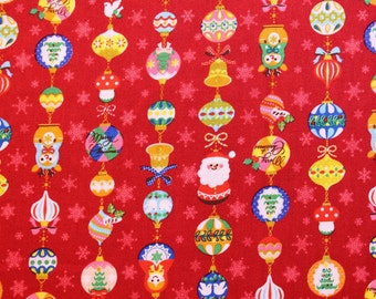 fat eighth / Japanese fabric / Christmas fabric / Japanese christmas fabric / Santa Claus fabric / kawaii fabric