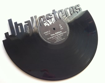 Vinyl record custom decorative named