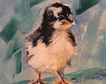 Baby Chick Oil Painting