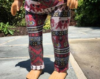 Red Tribal Leggings
