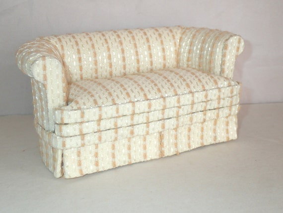 Items similar to 1 12 scale miniature dollhouse upholstered sofa chesterfield on Etsy