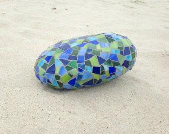 Blue/Green Mosaic Rock