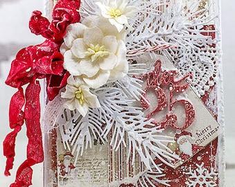 Shabby Chic December 25 Christmas Card