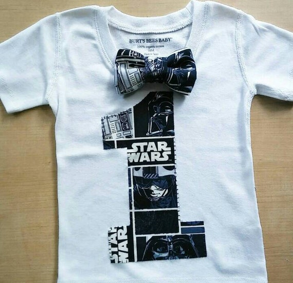 Star Wars Inspired 1st Or 2nd Birthday Shirt WITH Bowtie