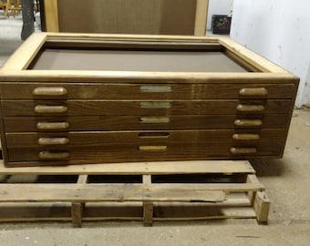 Hamiltion Wooden Flat file