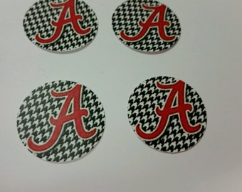 Precut Alabama one inch bottle cap images