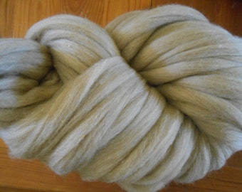 Undyed Oatmeal-Colored Tasmanian Polwarth Roving 1 Pound