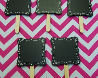 5 Square Chalkboard Signs