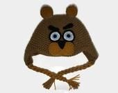 Crocheted Freddy Fazbear Hat - Adult sized