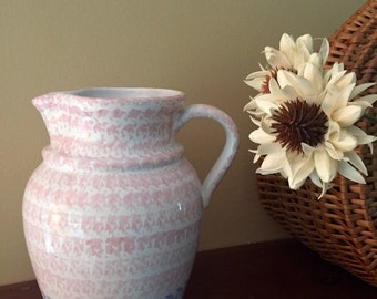 Beautiful Vintage Italian Ceramic Pitcher, Excellent Condition, Italian Pottery, Water Pitcher.