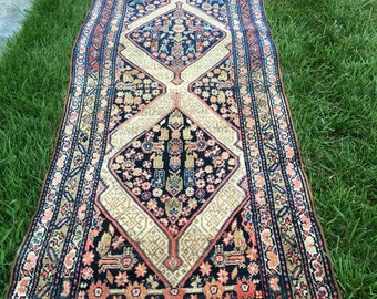 Antique Persian Malayer rug runner 3'x 11'