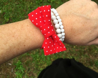 Bow Bracelet -- Available in any color or print!