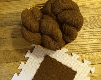 100% Chestnut Brown Alpaca Yarn