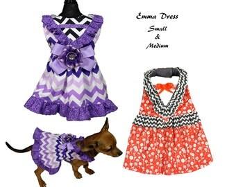Dog Tutu, Dog Dress Pattern, Dog Clothes Sewing Pattern pdf Tutorial -Emma Dress- SMALL & MEDIUM