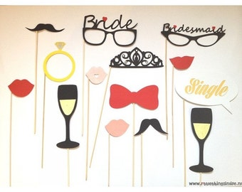 Bachelorette photobooth props package