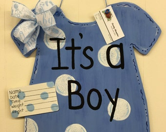 Its a boy hospital door hanger