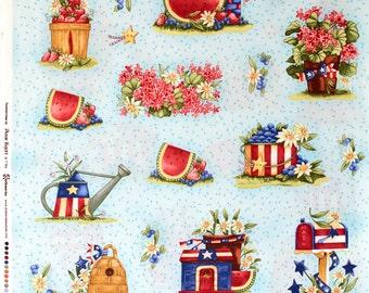 Sake Summertime Panel by Diane Knott for Clothworks  OOP HTF