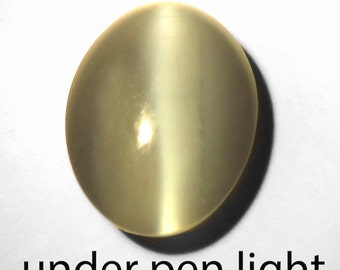 1.35CT Excellent line Natural ALEXANDRITE COLOR CHANGE Cats Eye from india