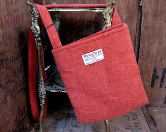 Harris Tweed Bag - Scottish Bag - Wool Bag - Made In Scotland - Cross Body Bag - Messenger Bag - Cross Body Purse - Vintage Harris Tweed