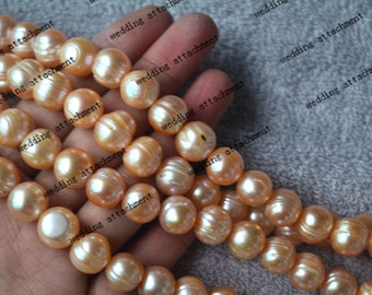 12-13 mm 15 inch pink pearls, cultured sweet water pearl strand wholesale, pink genuine loose pearl supply, freshwater pearl material offer