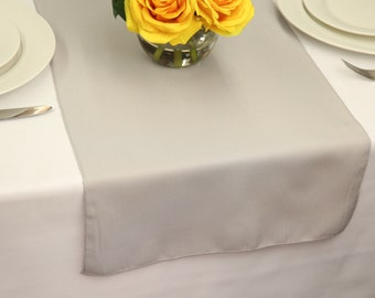Silver Polyester Table Runner | Wedding Table Runners