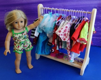 Clothes rack to use with American girl and other 18 inch dolls