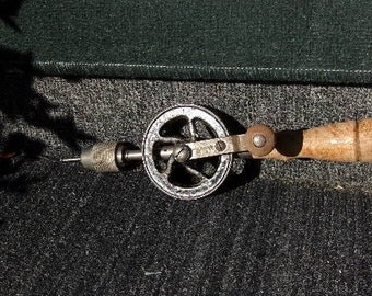 Hibbard Hand Drill, Vintage Hand Drill, Hibbard No. 192, Rare hand drill, woodworking tools, vintage tools, man cave décor, Rustic decor