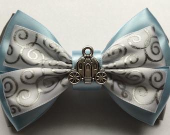 Inspired DisneyWorld Hair Bow / Cinderella's Castle Inspired Hair Bow / Princess Cinderella hair bow