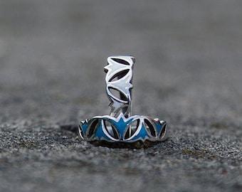 "Silver handmade ring ""Nymphaeum"""
